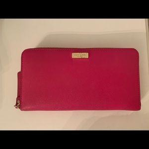 Kate Spade Zip Wallet - Fuschia